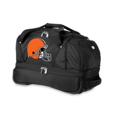 NFL Cleveland Browns 22-Inch Drop Bottom Wheeled Duffel Bag