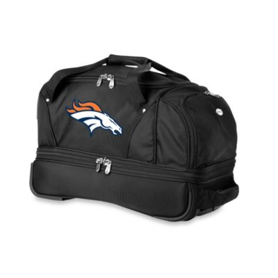NFL Denver Broncos 22-Inch Drop Bottom Wheeled Duffel Bag