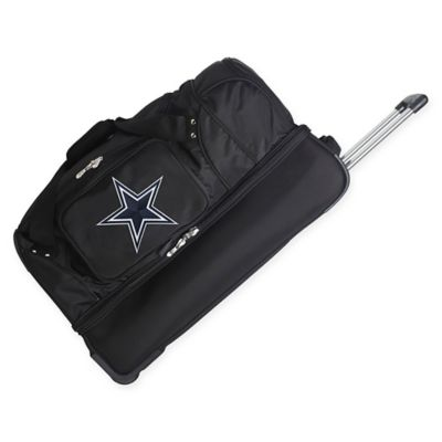 NFL Dallas Cowboys 27-Inch Drop Bottom Rolling Duffel Bag