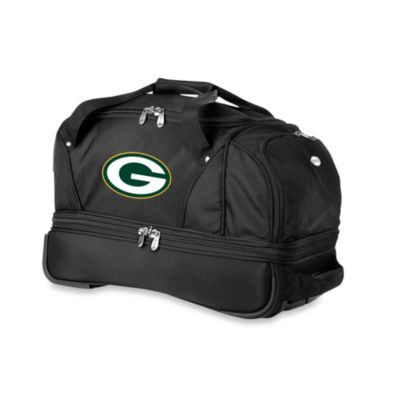 NFL Green Bay Packers 22-Inch Drop Bottom Wheeled Duffel Bag