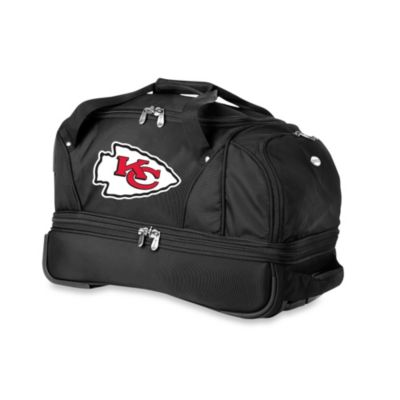 NFL Kansas City Chiefs 22-Inch Drop Bottom Wheeled Duffel Bag