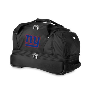 NFL New York Giants 22-Inch Drop Bottom Wheeled Duffel Bag