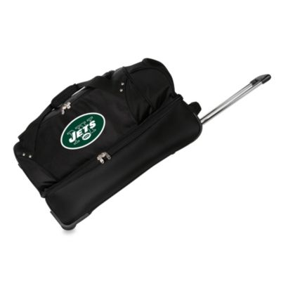 NFL New York Jets 27-Inch Drop Bottom Rolling Duffel Bag