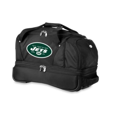 NFL New York Jets 22-Inch Drop Bottom Wheeled Duffel Bag