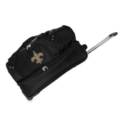 NFL New Orleans Saints 27-Inch Drop Bottom Rolling Duffel Bag