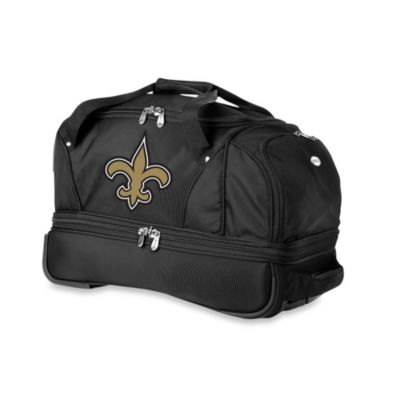 NFL New Orleans Saints 22-Inch Drop Bottom Wheeled Duffel Bag