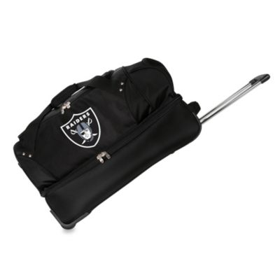 NFL Oakland Raiders 27-Inch Drop Bottom Rolling Duffel Bag