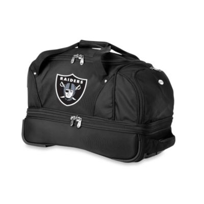 NFL Oakland Raiders 22-Inch Drop Bottom Wheeled Duffel Bag