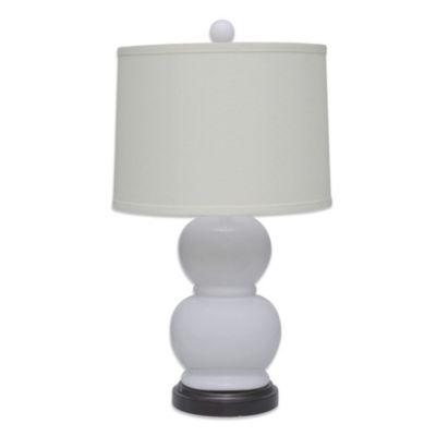 B. Smith Ceramic Orb 1-Light Table Lamp in White