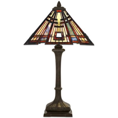 Quoizel Classic Craftsman 2-Light Table Lamp