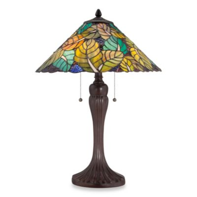 Quoizel® Payne 2-Light Tiffany Table Lamp