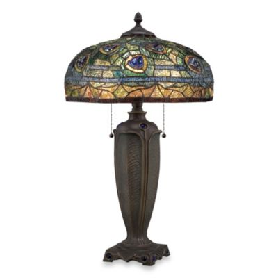 Quoizel® Lynch 2-Light Tiffany Table Lamp