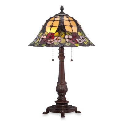Quoizel® Mills 2-Light Tiffany Table Lamp