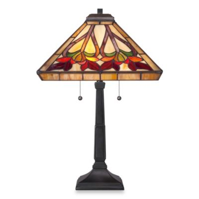 Quoizel® Ross 2-Light Tiffany Table Lamp