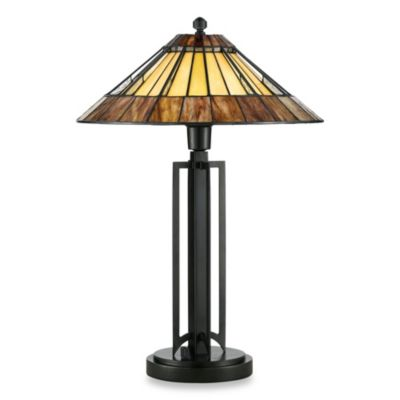 Quoizel® Liam 1-Light Tiffany Table Lamp
