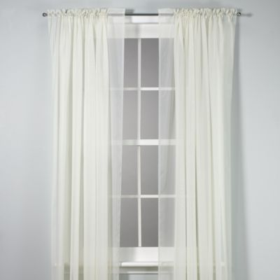 Voile 84-Inch Sheer Rod Pocket Panel in Ivory