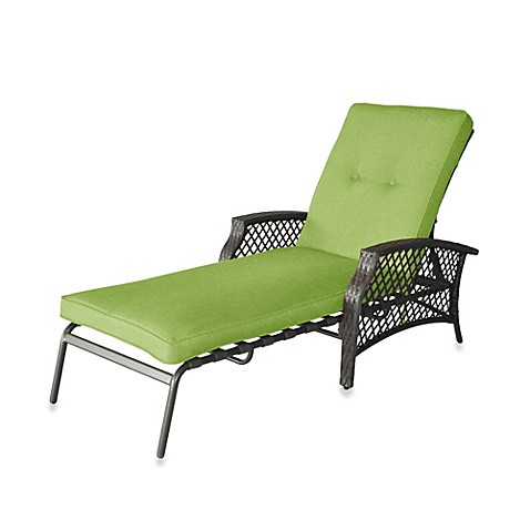 Buy stratford wicker padded chaise lounge in lime from bed for Bathroom chaise lounge
