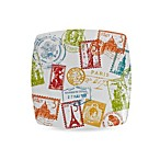 Passport 8-Inch Salad Plate in Multi-City Stamps
