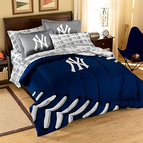 New York Yankees Contrast Series Complete Full Bed Ensemble