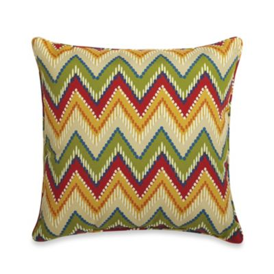 20-Inch Square Toss Pillow in Zig Zag