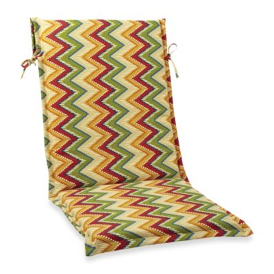 Sling Cushion with Ties in Zig Zag