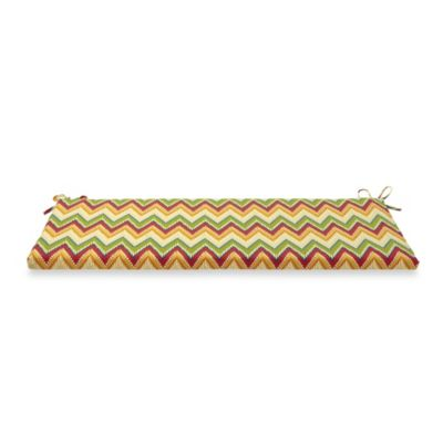 Bench Cushion with Ties in Zig Zag
