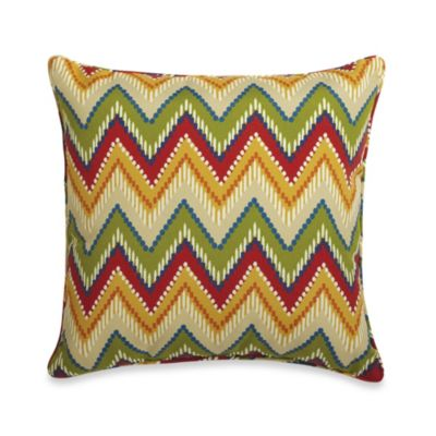 17-Inch Square Toss Pillow in Zig Zag
