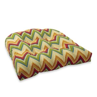 4.5-Inch Thick Tufted Cushion in Zig Zag