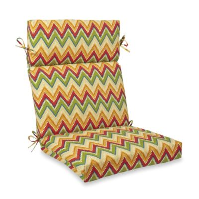 Mid-Back Cushion with Ties in Zig Zag