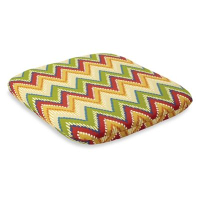 2-Inch Thick Chair Cushion in Zig Zag