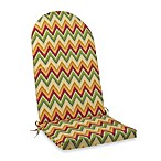 Adirondack Cushion with Ties in Zig Zag