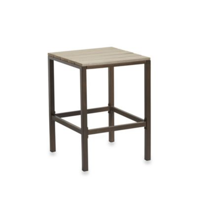Resin Wood High Dining Stools (Set of 2)