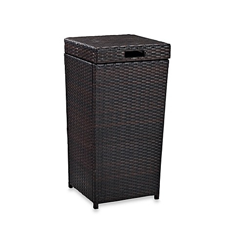 Buy crosley palm harbor outdoor wicker wastebasket from - Bed bath and beyond palm beach gardens ...