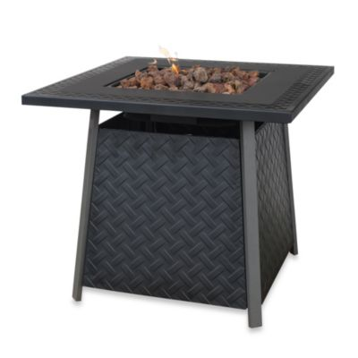 UniFlame® Outdoor Slate Finish LP Firepit Table