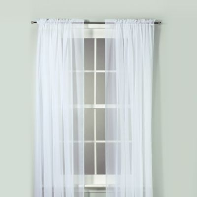 Voile 84-Inch Sheer Rod Pocket Panel in White