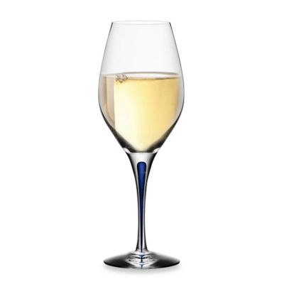 Orrefors Intermezzo Blue 10-Ounce Wine Glass