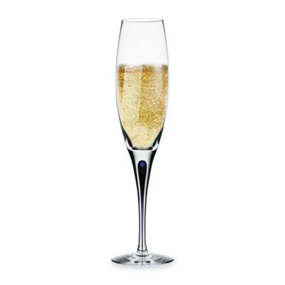 Orrefors Intermezzo Blue 3 oz. Champagne Flute Glass