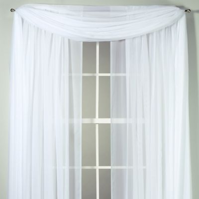 Voile 108-Inch Sheer Rod Pocket Panel in White