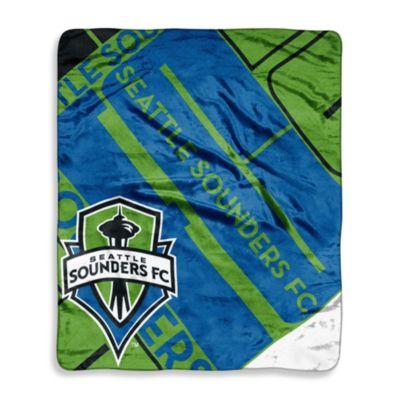 Seattle Sounders FC Super-Plush Raschel Throw Blanket
