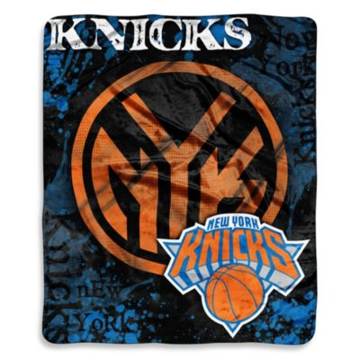 NBA New York Knicks Super-Plush Raschel Throw Blanket