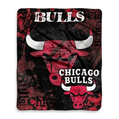 NBA Chicago Bulls Super-Plush Raschel Throw Blanket