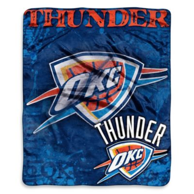 NBA Oklahoma City Thunder Super-Plush Raschel Throw Blanket