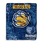 Memphis Grizzlies Super-Plush Raschel Throw Blanket