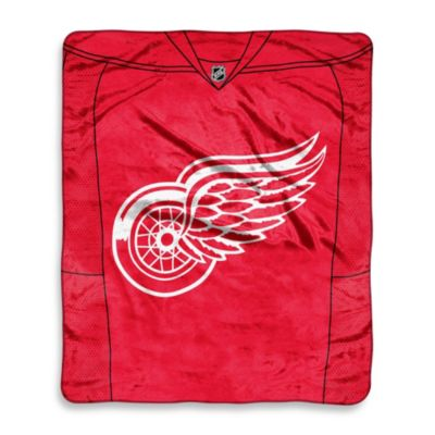 NHL Detroit Red Wings Super-Plush Raschel Throw Blanket