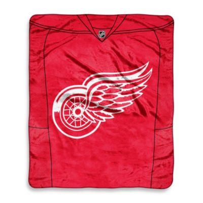 NHL Detroit Red Wings Super-Plush Raschel Throw Blanket