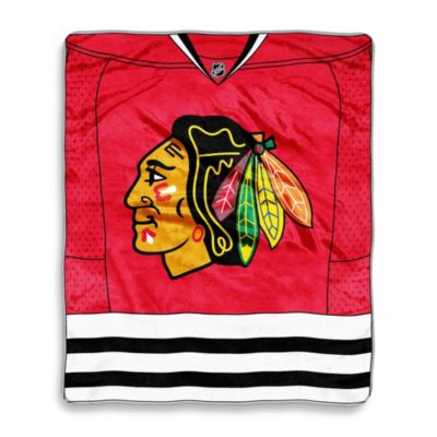 NHL Chicago Blackhawks Super-Plush Raschel Throw Blanket