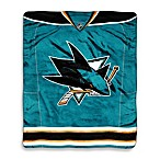 San Jose Sharks Super-Plush Raschel Throw Blanket