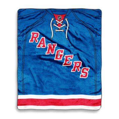 NHL New York Rangers Super-Plush Raschel Throw Blanket