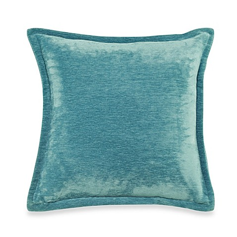 Velvet 20 Inch Throw Pillow In Turquoise Bed Bath Amp Beyond