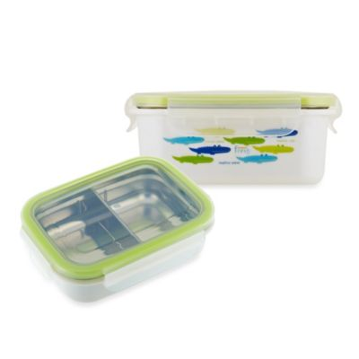 Innobaby Keepin' Fresh™ 15-oz Double-Lined Stainless Bento LunchBox in Alligator/Green